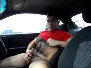Jerking In The Car   amateur  car xxx  jerking