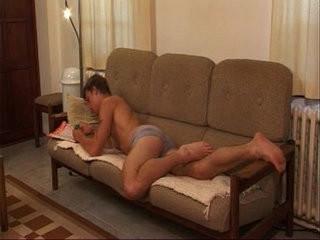 Barebacking on the sofa | bareback  cums