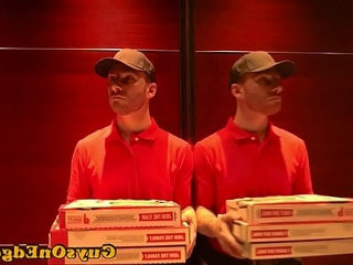 Bounded sub forced to eat cumshot of pizza | cumshots  forced