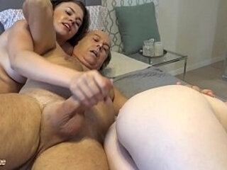 Hard double blowjob cum licking and pussy penetration | blowjobs   cums   double   hardcore   licking