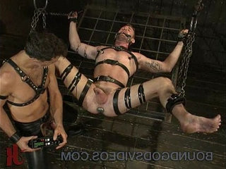 Tied up gay to a bondage ladder gets dick slapped | blowjobs  bondage  dicks  gays tube  getting  tight movie