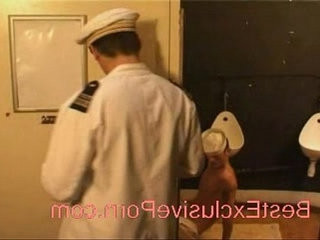 Voyeur The sailors fuck in toilet | fucking   toilet male   voyeur