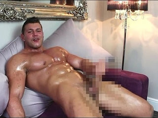 Horny hunk on a suede sofa | domination   horny   hunks best