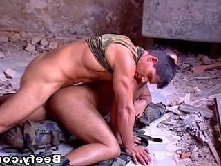 White Beefy Muscle Daddy Fucked Raw | daddy  fucking  muscular  white