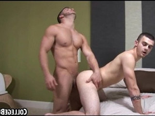These two hot buff frat hunks are having anal sex | anal top   frat vids   hunks best   two movie