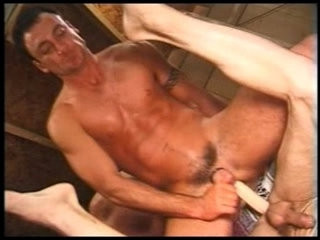 Double ended Dildo Cowboys | dildo   double   fucking