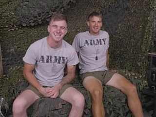 Military Jocks Ryan Jordan & Brandon Anderson Full Scene - ActiveDuty | jocks   military   scene