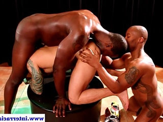 Ebony gays in kinky threeway rimming white ass | ass collection  ebony gay  gays tube  group film  kinky  rimming