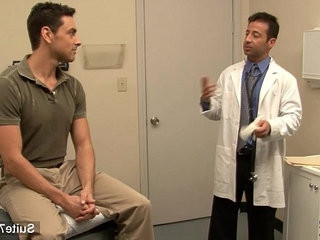 Lusty doctor gets nailed by his gay patient at work | doctors   gays tube   getting   works male